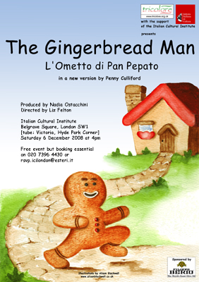 Tricolore Gingerbread Man Poster